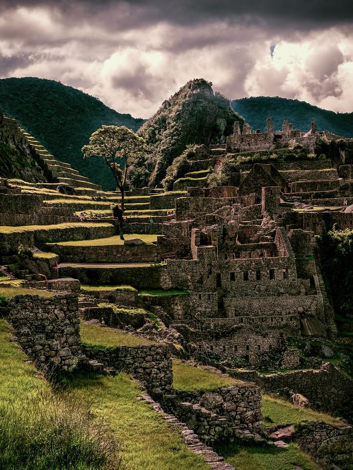 Sunshaft on Machu Picchu