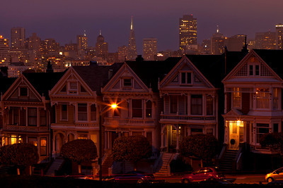 Painted Ladies-This image was actually the last of the trip.  Our super clear skies turned to dreadful stormy clouds, and shockingly it was still hazy!!!  Phil and I hid at the bottom of a hill to get out of the cold wind just to capture a few twilight images.  This is my favorite, and I especially like the light trails in the foreground.  Did I mention that we left the tripod head in the car and didn't realize it until I needed it?  Good to have a husband who can run quickly to save the day!!!