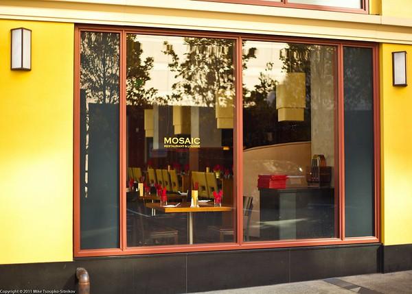 A cafe window