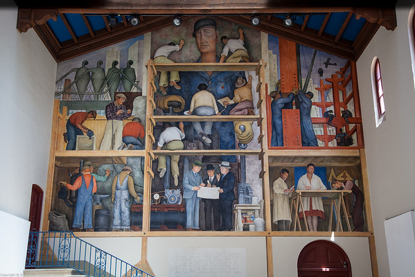 Making of a Fresco Showing the Building of a City, 1931, by Diego Rivera