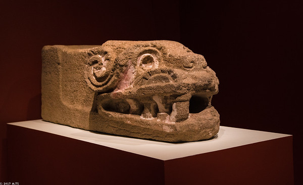 The head of Quetzalcoatl