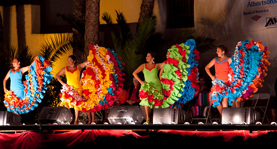 "Las Noches De Ronda - ""Nights of Gaiety"" Held in the sunken garden at the Santa Barbara County courthouse"