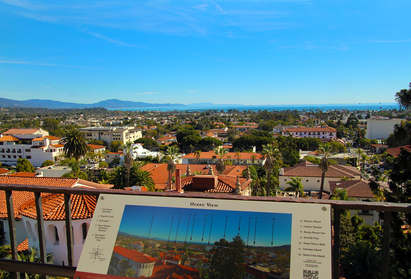 California, Santa Barbara, View from Courthouse Tower