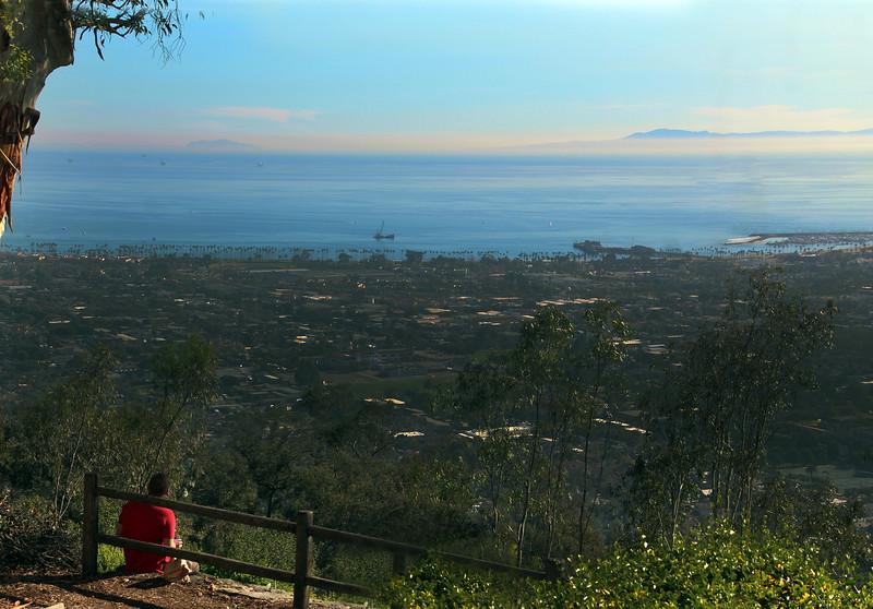 California, Santa Barbara, View from Franceschi Park