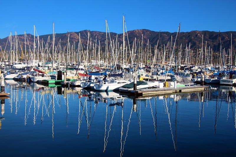California, Santa Barbara, Marina Reflections