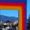 Santa Barbara, California, View Through Chromatic Gateway Sculpture