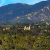 California, Santa Barbara,  Old Santa Barbara Mission from Courthouse Tower