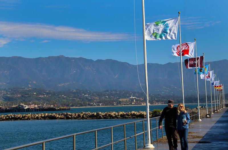 California, Santa Barbara,  Breakwater