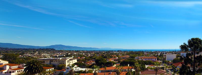 California, Santa Barbara, Panorama from Courthouse Tower
