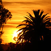 California, Santa Barbara, Sunset from Old Mission