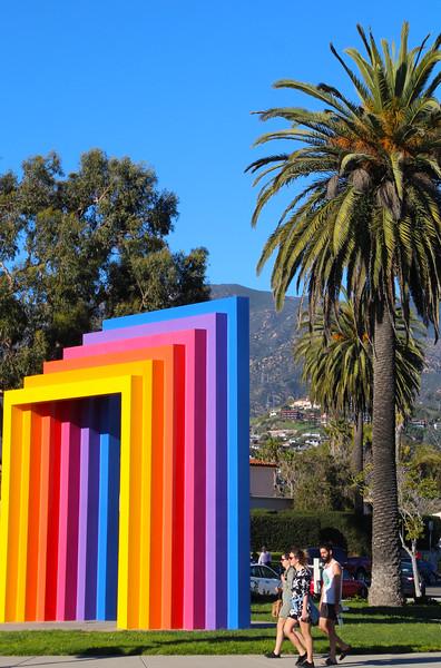 California, Santa Barbara, Chromatic Gateway Sculpture