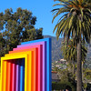 California, Santa Barbara, Chromatic Gateway Sculpture