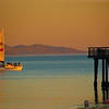 Santa Barbara California, Sunset from Stearns Pier