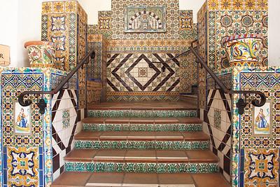 Tiled stairway, Santa Barbara Courthouse