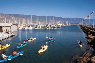 Kayaking in Santa Barbara Harbor