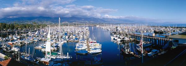 Santa Barbara Harbor panorama