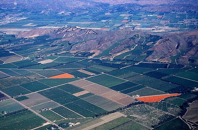 Las Posas Valley with Santa Clara Valley in background
