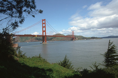 Golden Gate Bridge from Golden Gate Park