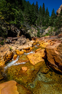Clear and Red - Little Backbone Creek, Shasta National Forest, CA, USA