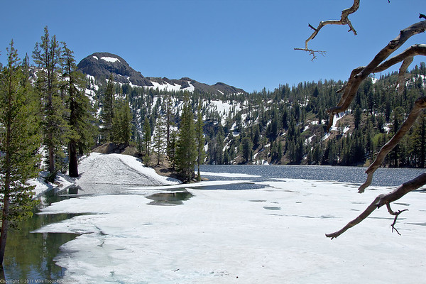 At a frozen lake east of Ebbets Pass