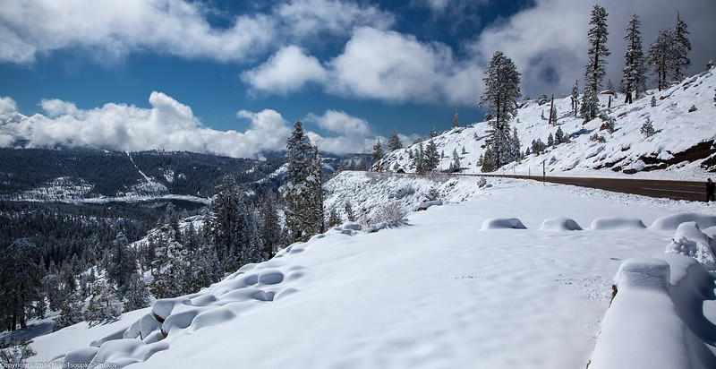 Highway 88 - after a Snowfall in April