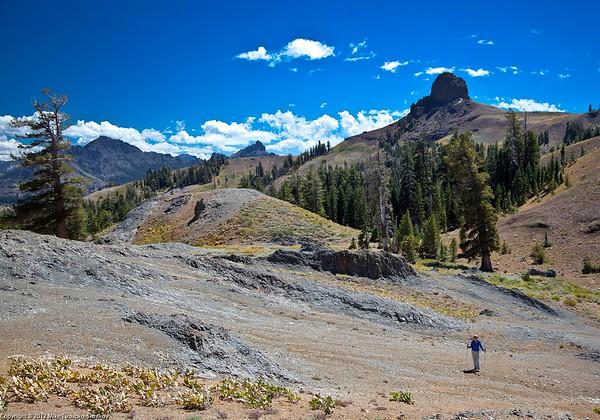 Markleeville Peak Hike. A view of Jeff Davis Peak and Raymond Peak
