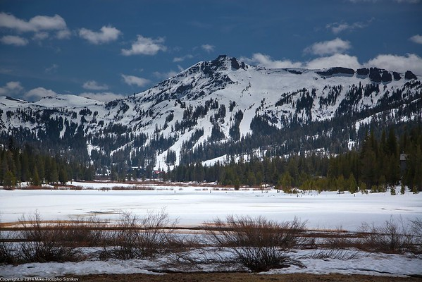 Kirkwood Ski Resort - after a Snowfall in April