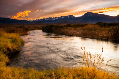 Owens River at Sunset