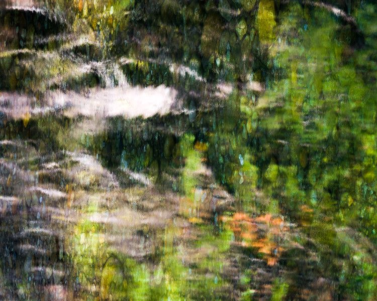 Impressions of ripples on the water