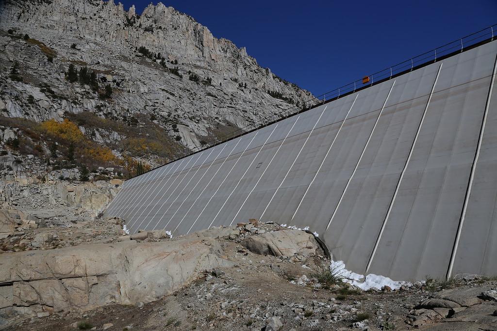 dry dam face of South Lake , Nov'2015.