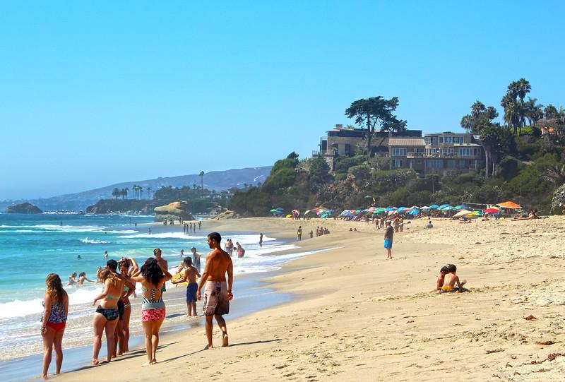 Laguna Beach California, Beach Scene Looking North