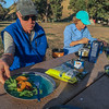 Dinner at Santa Cruz Island Campground