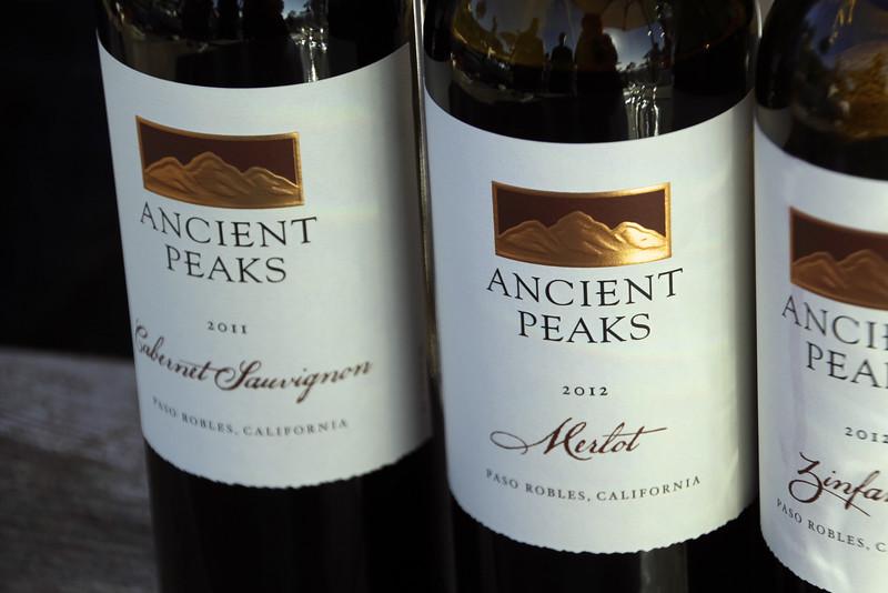 St. Regis, Farm to Feast, Ancient Peaks Wine Bottles
