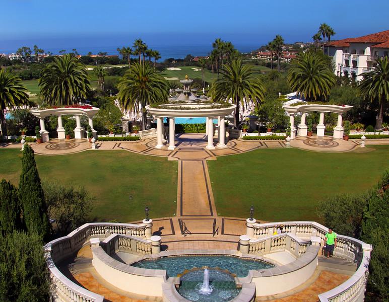 St. Regis Monarch Beach Resort, Dana Point, California, View from Terrace onto Ocean