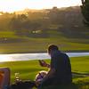 St. Regis Monarch Beach Resort, Dana Point, California, Couple Overlooking Golf Course