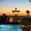 St  Regis Monarch Beach Resort, Dana Point,  Fountain at Sunset