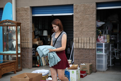 Young lady chasing some items for her first home.