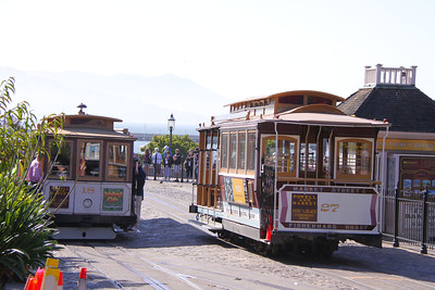 Cable Cars No 27 & 18 at Fishermans Wharf     21/06/10