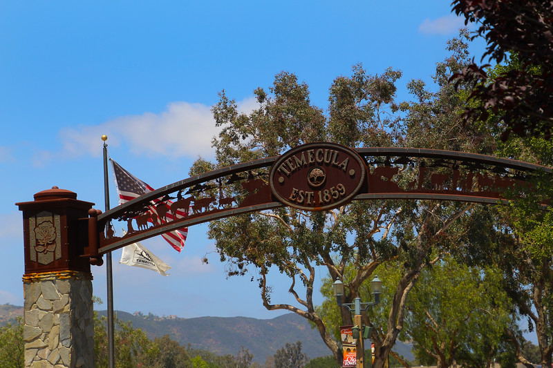 Temecula California, Old Town Banner