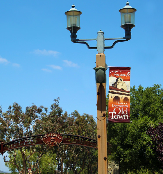 Temecula California, Old Town, Welcome Sign & Banner