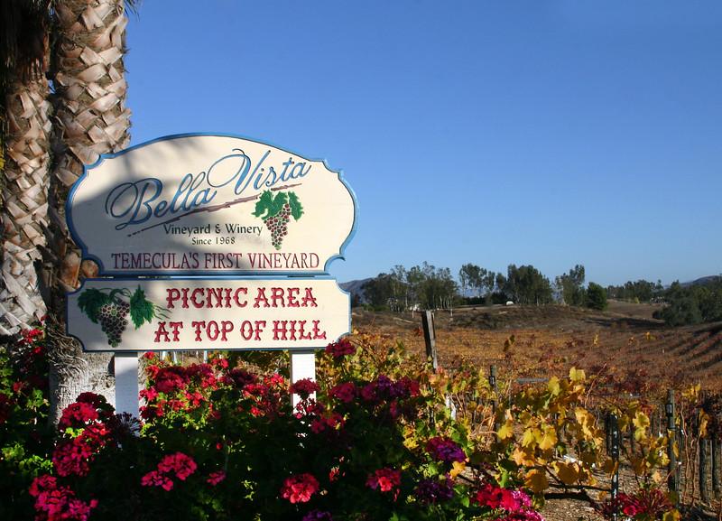 Temecula California, Bella Vista Vineyard