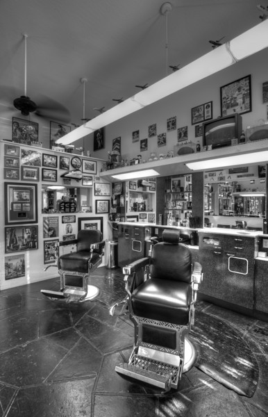 Tony's barber shop in Burlingame