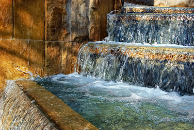 Patsaouras Transit Plaza waterfall Union Station LA CA  Dec 14 2012