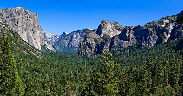 Tunnel View - Yosemite Valley 6 vertical image stitch