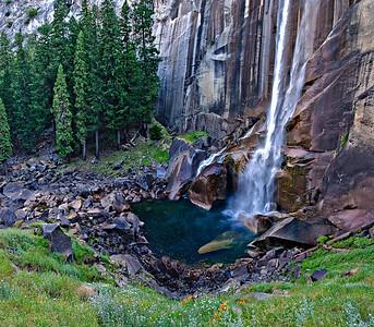 Vernal Falls - Mist Trail - Yosemite 3 image stitch