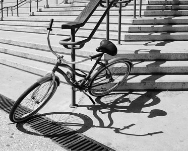 Bike, Stairs and Shadows