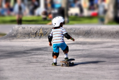 Littlest Skate Boarder Venice Beach Ca