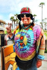 Peace Love and Tie Dye!  Vivianne Robinson www.flickr.com/photos/nameonrice/ Venice Beach Ca