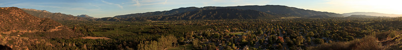 Panorama of Ojai Valley taken from Shelf Road.  Note:  This is a very large image.  If you are interested in obtaining a print of this image, please contact me.
