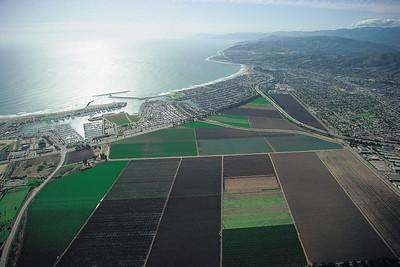 Ventura Harbor and coastline